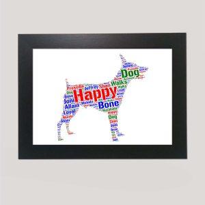 Miniature Pinscher Dog of Word Art Prints