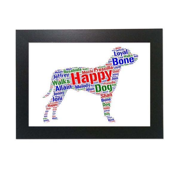 Staffordshire Bull Terrier Dog of Word Art Prints