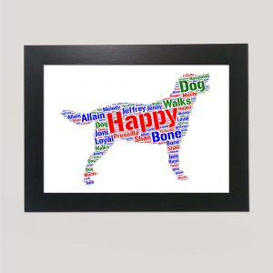 Labrador Retriever Dog of Word Art Prints