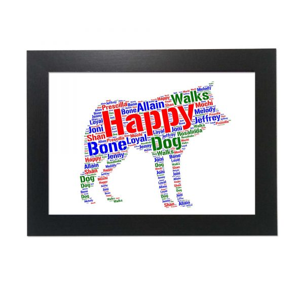 Canis Lupus Dog of Word Art Prints