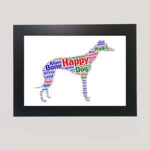 Greyhound Dog of Word Art Prints