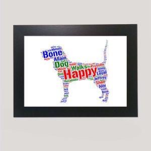 Bloodhound Dog of Word Art Prints