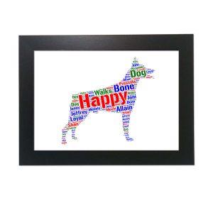 Doberman Dog of Word Art Prints