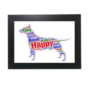 English Bull Terrier White of Word Art Prints