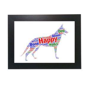 Shepherd Dog Of Word Art Prints