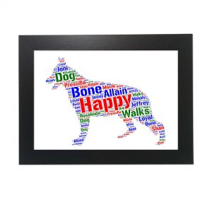 Alsatian Dog of Word Art Prints