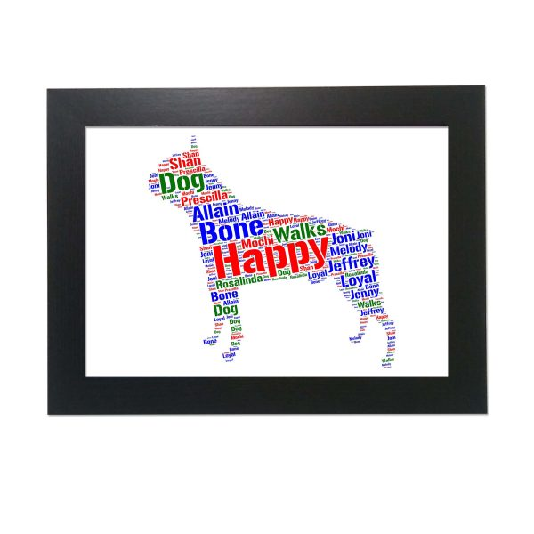 Boston Terrier Dog of Word Art Prints