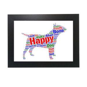 Bull Terrier Dog of Word Art Prints