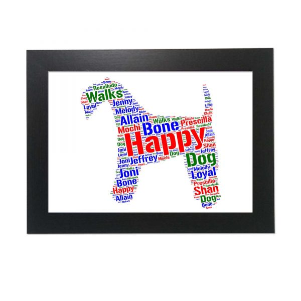 Airedale Terrier Dog of Word Art Prints