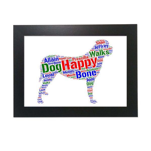 English Mastiff Dog of Word Art Prints