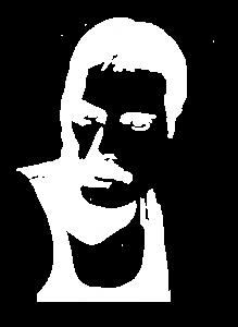Full Face Drawing Of Freddie Mercury