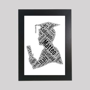 Graduate of Word Art Prints