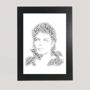 Full Face of Michael Jackson of Word Art Prints