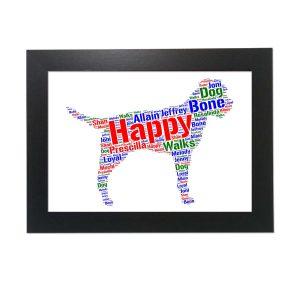 Border Terrier Dog of Word Art Prints