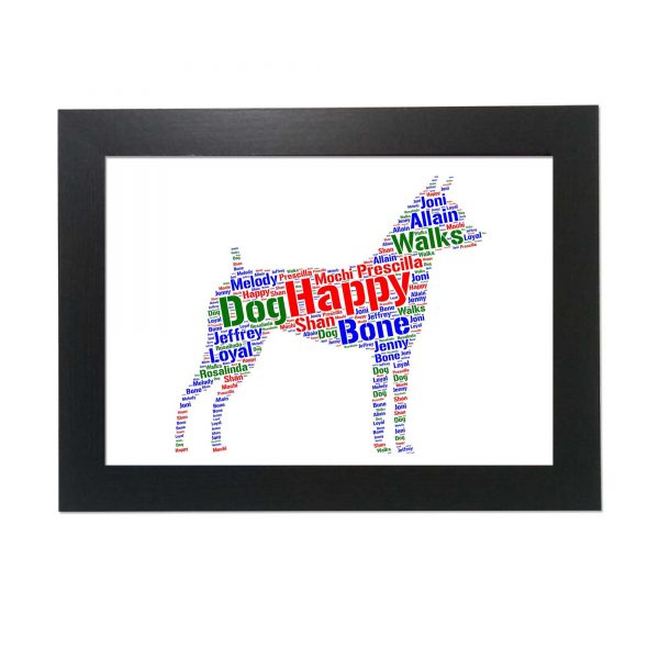 Fox Terrier Dog of Word Art Prints