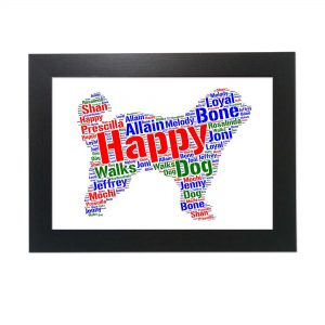 Pyrenean Shepherd Dog of Word Art Prints