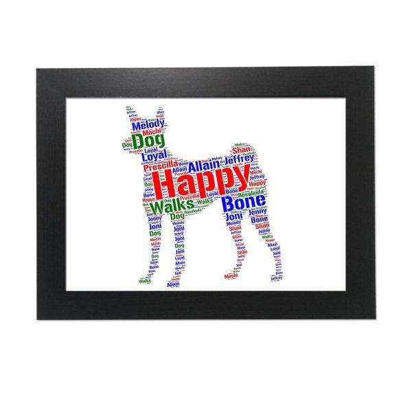 Basenji Dog of Word Art Prints