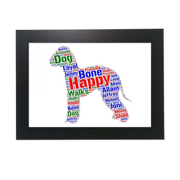 Bedlington Dog of Word Art Prints