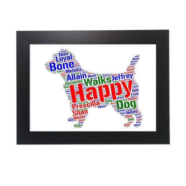 Cairn Terrier Dog of Word Art Prints