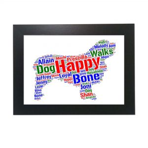 Clumber Spaniel Dog of Word Art Prints