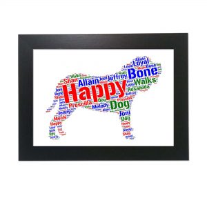 Neapolitan Mastiff Dog of Word Art Prints