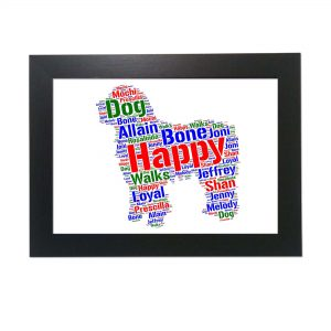 Spanish Water Dog of Word Art Prints