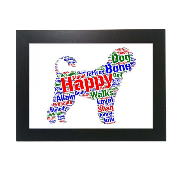 Portuguese Water Dog of Word Art Prints