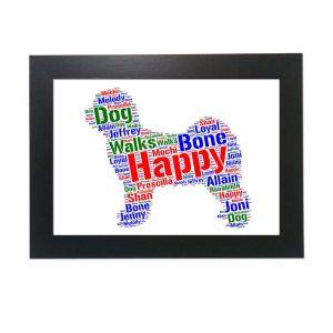 Tibetan Terrier Dog of Word Art Prints