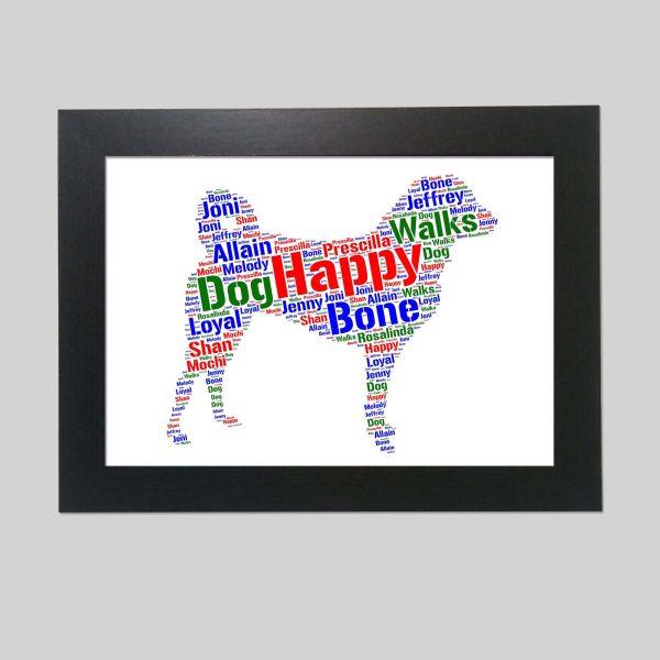 Appenzeller Sennenhund Dog of Word Art Prints