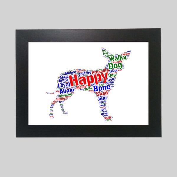 Xoloitzcuintle Dog of Word Art Prints