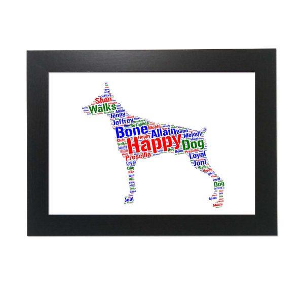 Rottweiler Gsw Dog of Word Art Prints