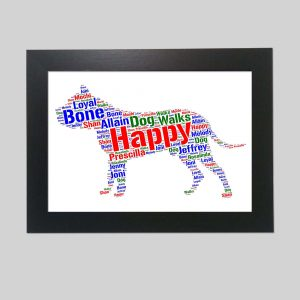 Dogo Canario Dog of Word Art Prints