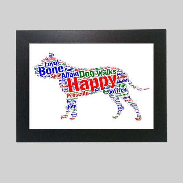 Dogo Canario Dog of Word Art Prints