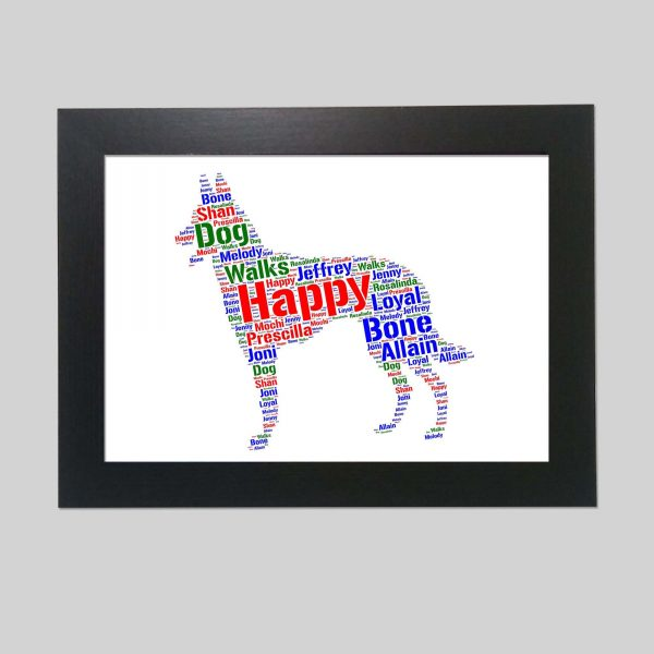 Dutch Shepherd Dog of Word Art Prints