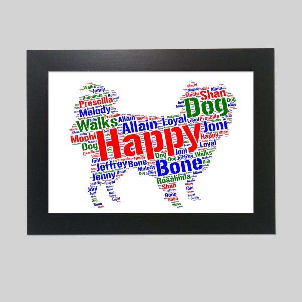 Japanese Chin Dog of Word Art Prints