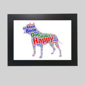 American Bulldog of Word Art Prints