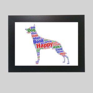 Belgian Malinois Dog of Word Art Prints