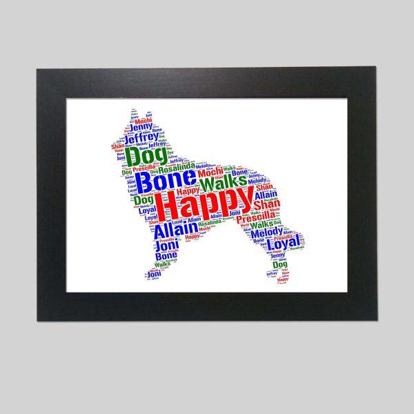 Belgian Tervuren Dog of Word Art Prints