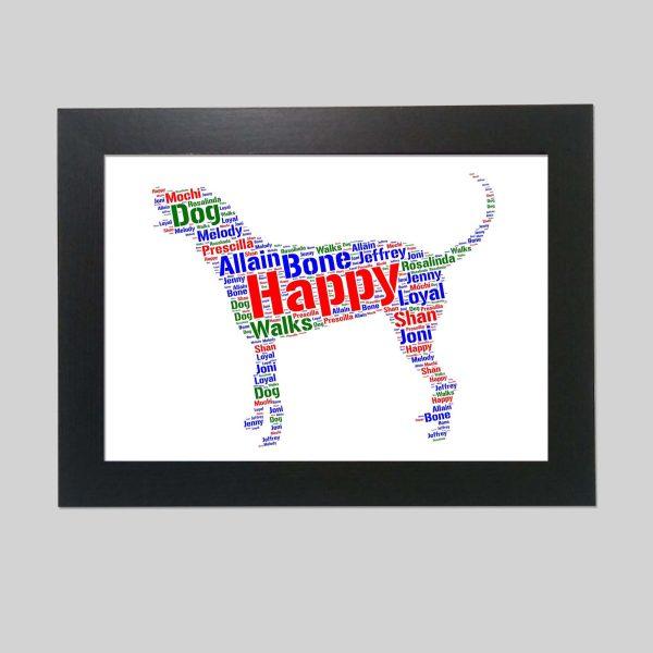 Bluetick Coonhound Dog of Word Art Prints