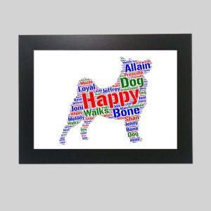Swedish Lapphund Dog of Word Art Prints