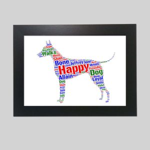 American Hairless Terrier Dog of Word Art Prints