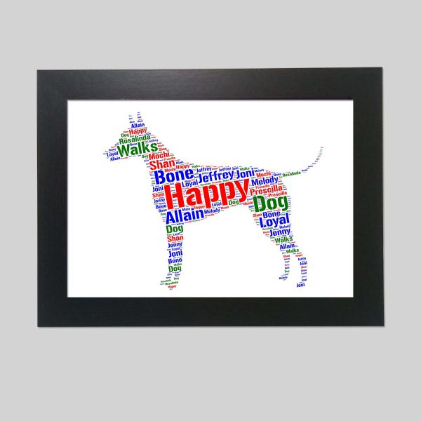 American Hairless Terrier Dog of Word Art Prints
