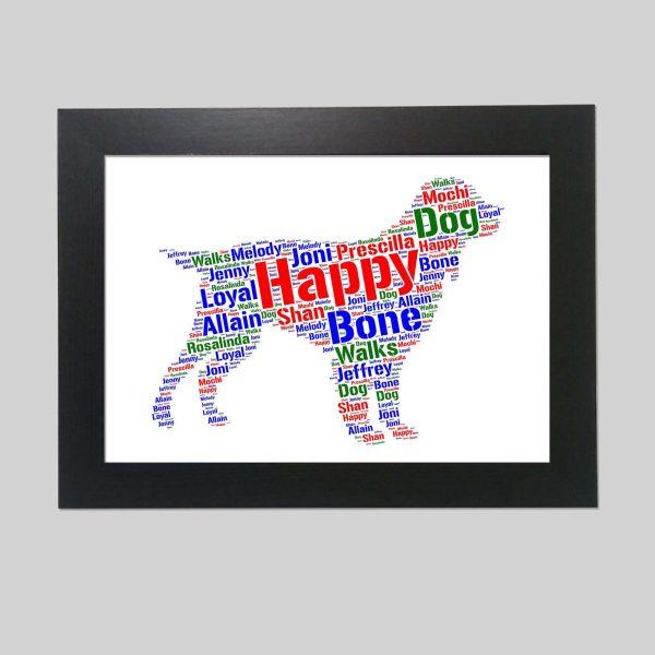 Field Spaniel Dog of Word Art Prints