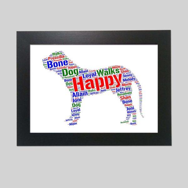 Fila Brasileiro Dog of Word Art Prints