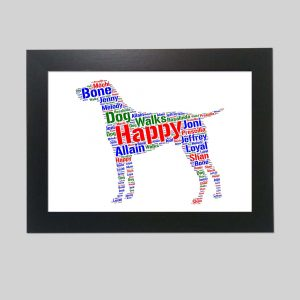 German Shorthaired Pointer Dog of Word Art Prints