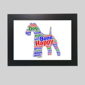 Kerry Blue Terrier Of Word Art Prints