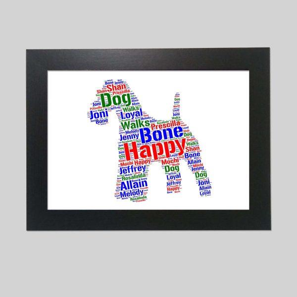 Kerry Blue Terrier Of Word Art Prints