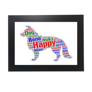 Border Collie Dog of Word Art Prints