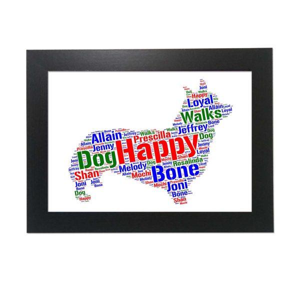 Corgi Dog of Word Art Prints