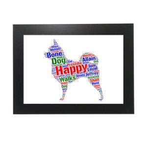 Chihuahua Dog of Word Art Prints
